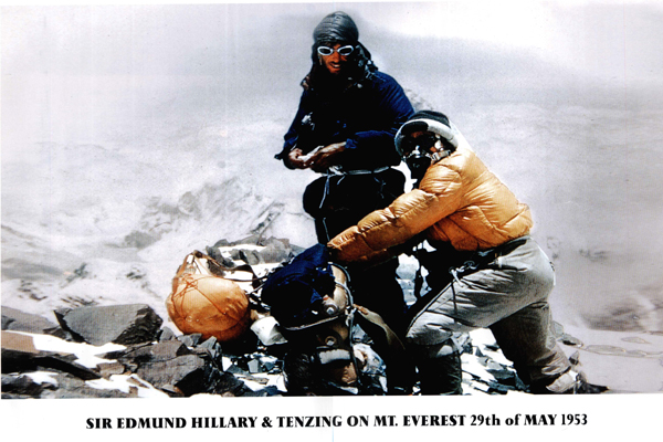 Edmund Hillary and Tenzing Sherapa photo